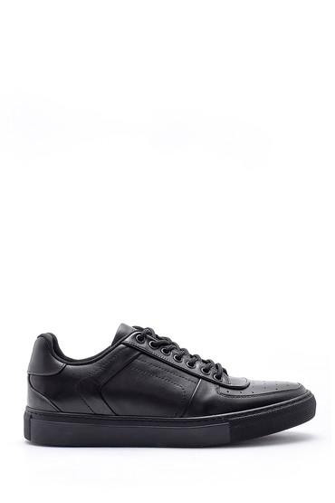 Siyah Erkek Deri Sneaker 5638143151