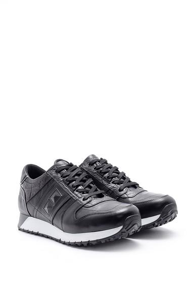 Siyah Erkek Deri Sneaker 5638144235