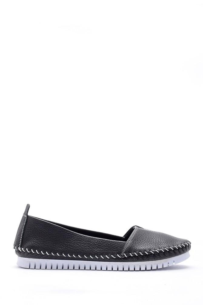 Siyah Kadın Deri Ayakkabı 5638151738