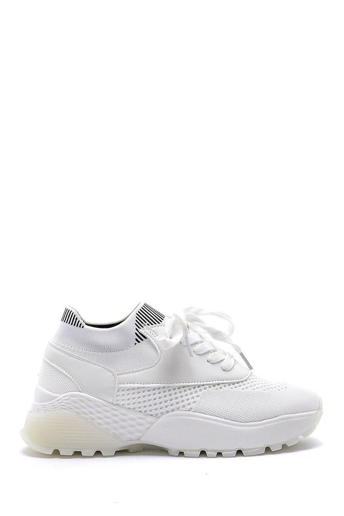 Beyaz Kadın Yüksek Taban Sneaker 5638166370