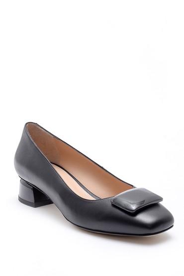 Siyah Kadın Deri Ayakkabı 5638161201