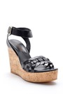 5638162488 Kadın Deri Dolgu Topuklu Sandalet