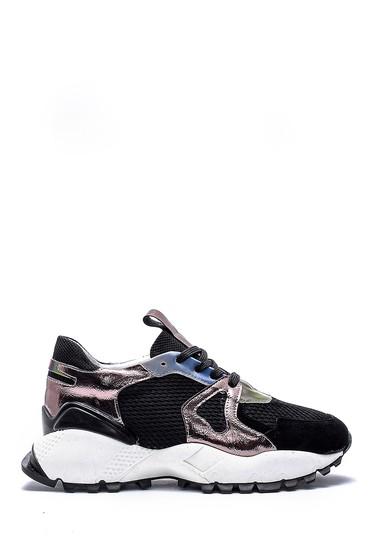 Siyah Kadın Yüksek Tabanlı Sneaker 5638159541