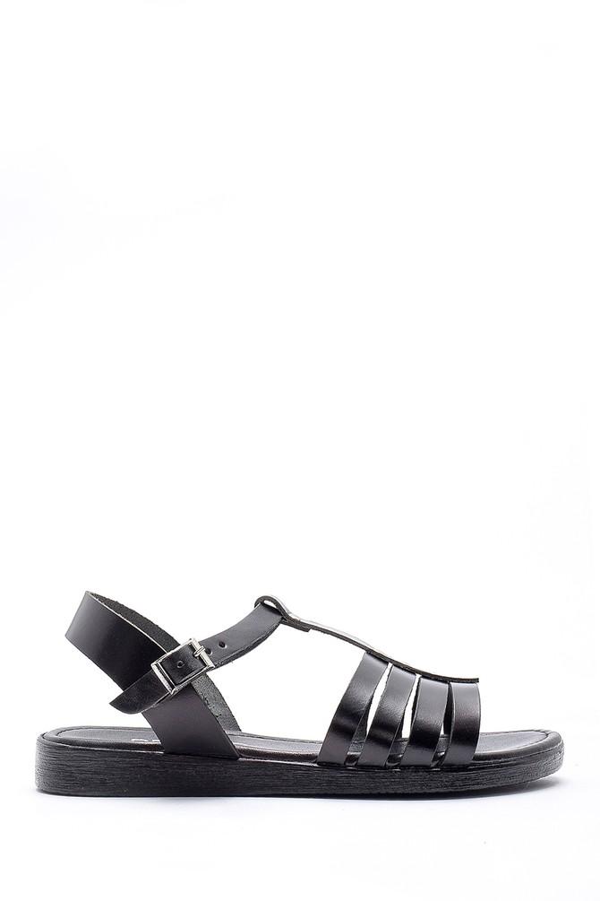 Siyah Kadın Deri Sandalet 5638161795