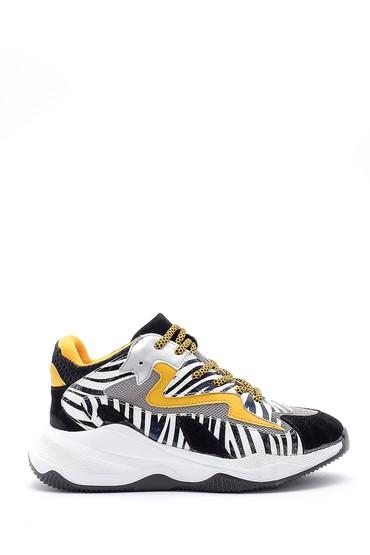 Sarı Kadın Desenli Sneaker 5638169166