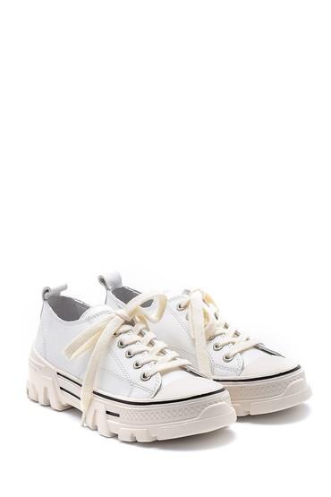 Beyaz Kadın Deri Sneaker 5638175193