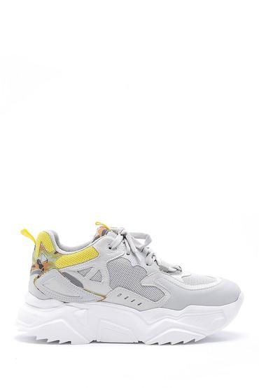 Gri Kadın Yüksek Tabanlı Sneaker 5638175243