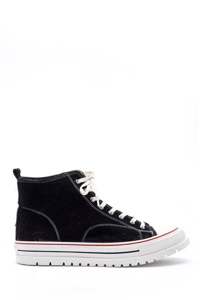 Siyah Kadın Süet Deri Ayakkabı 5638175300