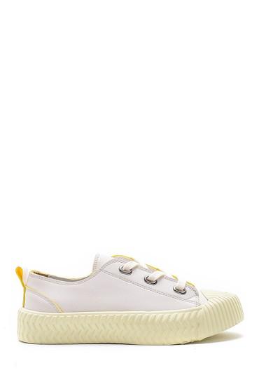 Beyaz Kadın Deri Sneaker 5638182018