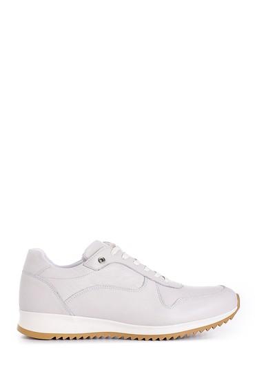 Beyaz Erkek Deri Sneaker 5638143880