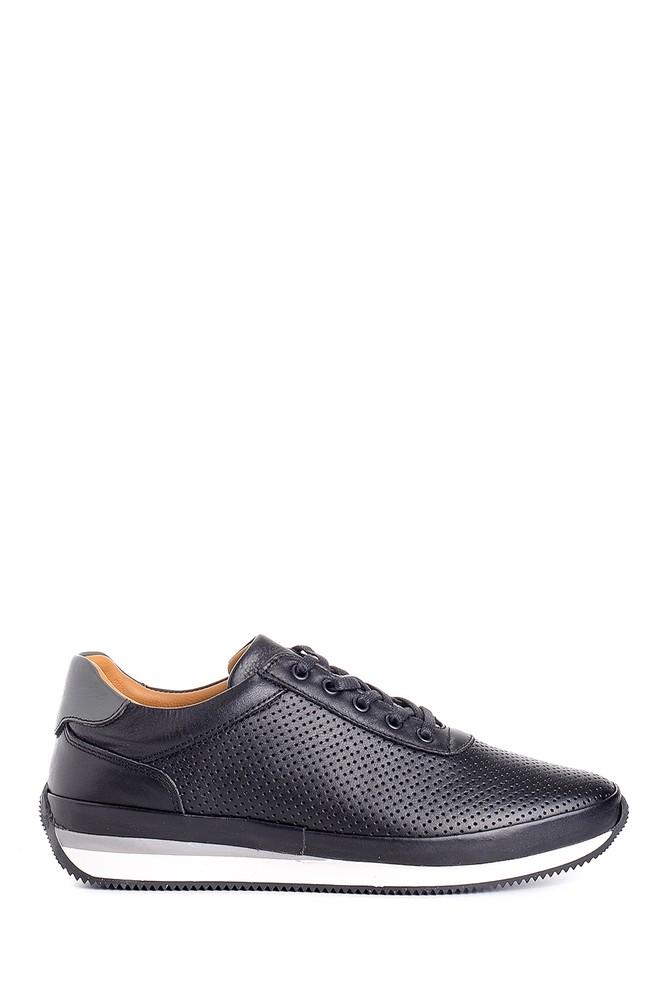 Siyah Erkek Deri Sneaker 5638147112