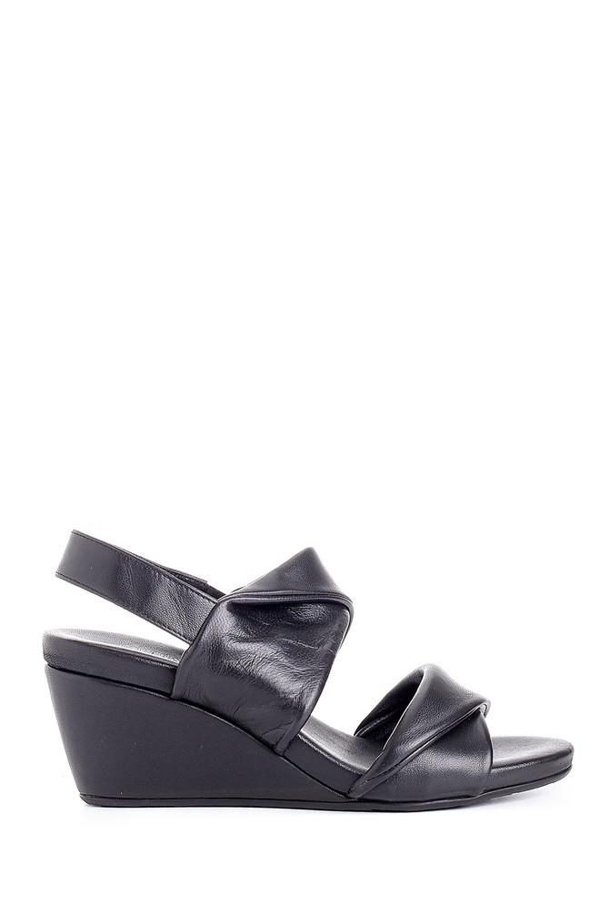 Siyah Kadın Dolgu Topuklu Sandalet 5638154959
