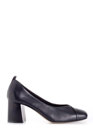 5638161249 Kadın Deri Kalın Topuklu Ayakkabı