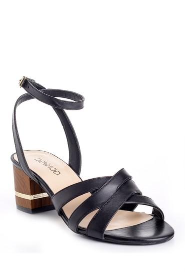 Siyah Kadın Kalın Topuklu Ayakkabı 5638161937