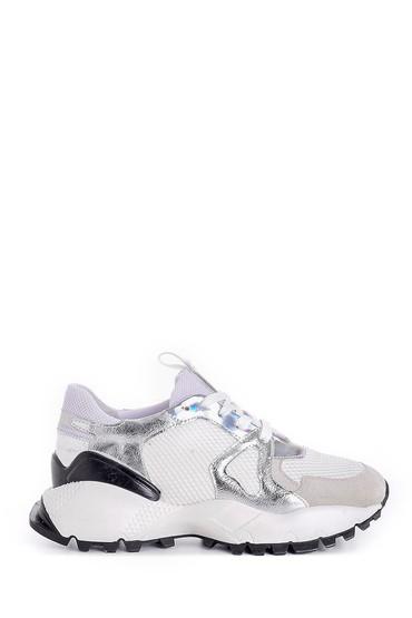 Beyaz Kadın Yüksek Tabanlı Sneaker 5638159539