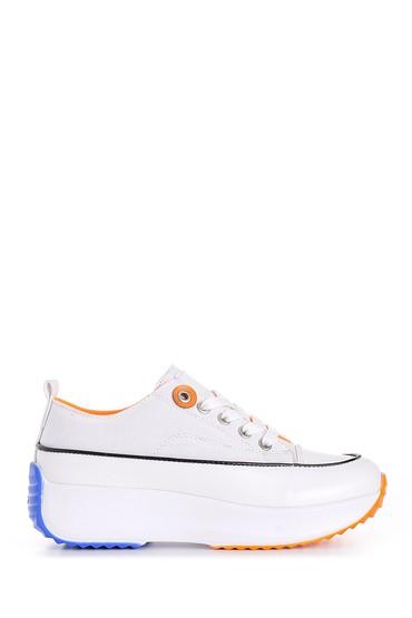 Beyaz Kadın Yüksek Tabanlı Sneaker 5638180566