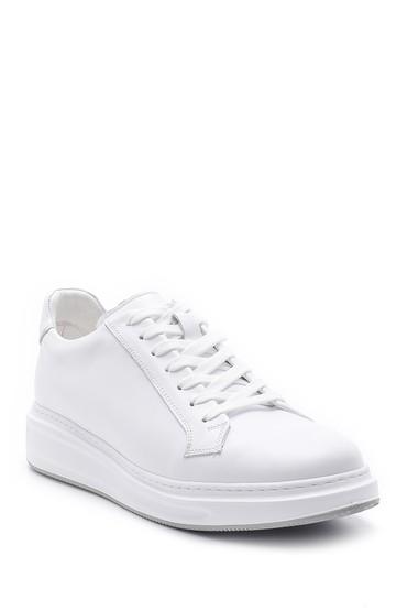Beyaz Erkek Deri Sneaker 5638143825