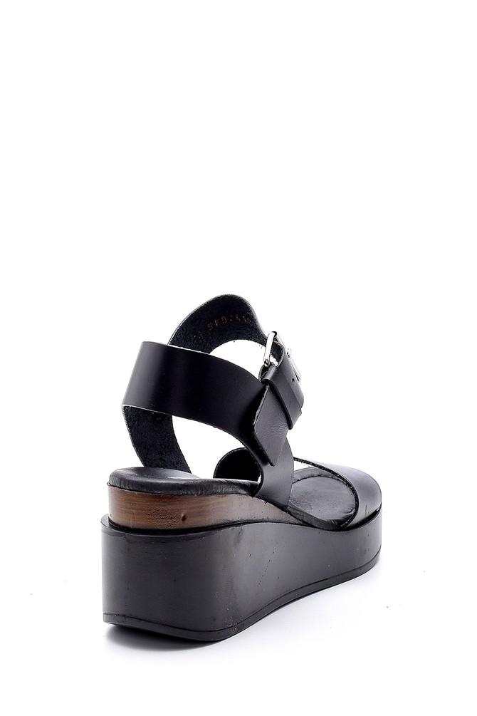 5638160623 Kadın Yüksek Tabanlı Deri Sandalet