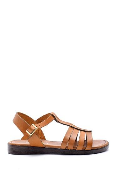 Kahverengi Kadın Deri Sandalet 5638161789