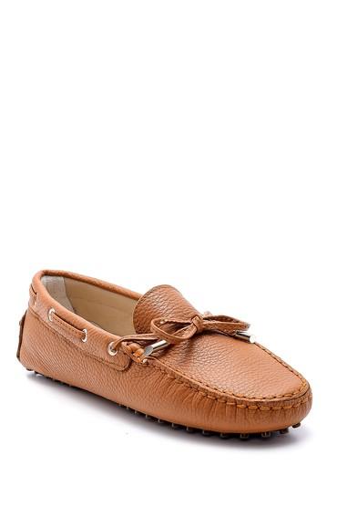 Kahverengi Kadın Deri Loafer 5638161997