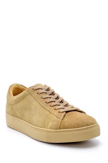Bej Erkek Süet Deri Sneaker 5638124937