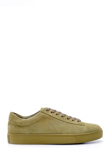 Yeşil Erkek Süet Deri Sneaker 5638124939