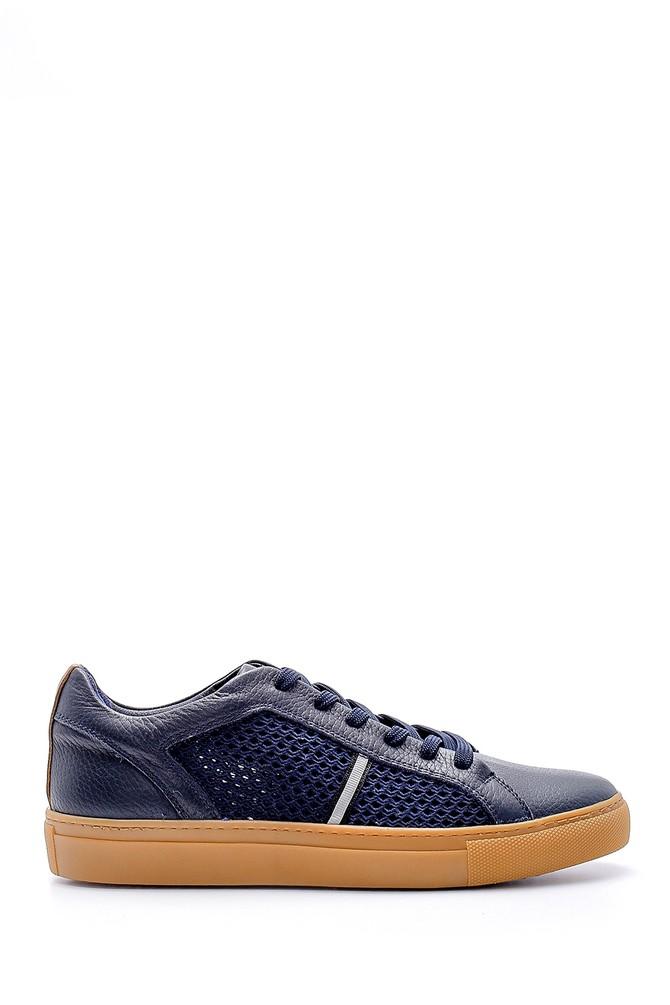 Lacivert Erkek Deri Sneaker 5638127177