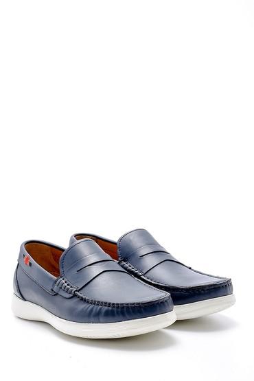 Lacivert Erkek Deri Loafer 5638127247