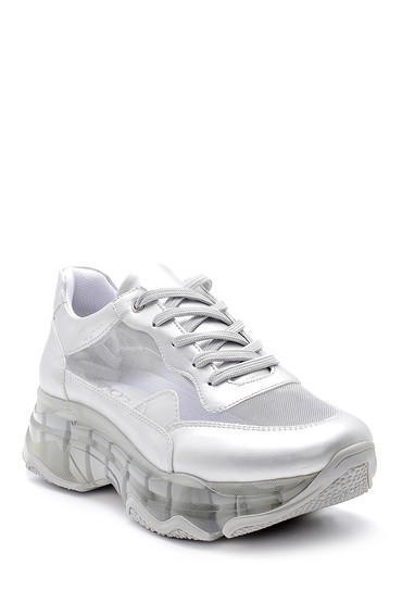 Gümüş Kadın Şeffaf Tabanlı Sneaker 5638142215
