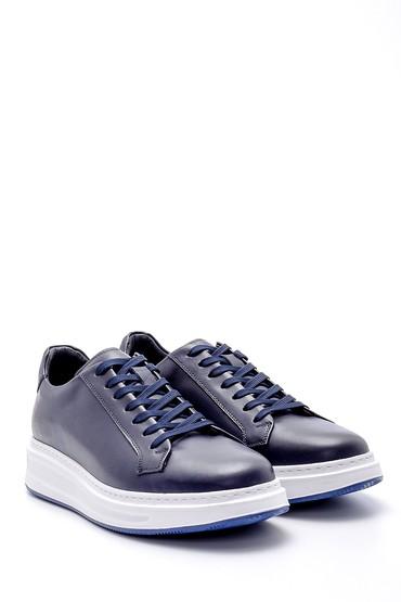 Lacivert Erkek Deri Sneaker 5638143844