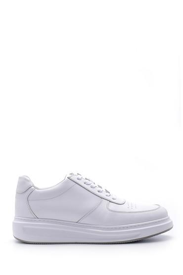 Beyaz Erkek Deri Sneaker 5638143857