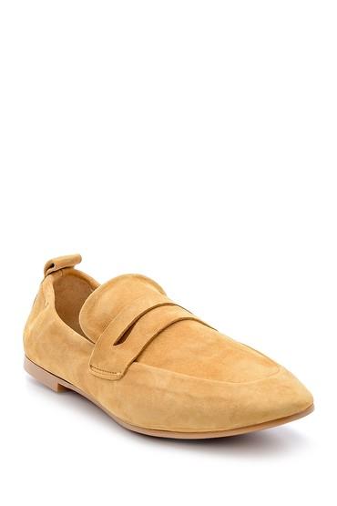 Kahverengi Kadın Süet Deri Loafer 5638153015