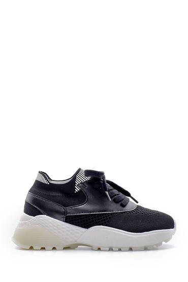 Siyah Kadın Yüksek Taban Sneaker 5638166369
