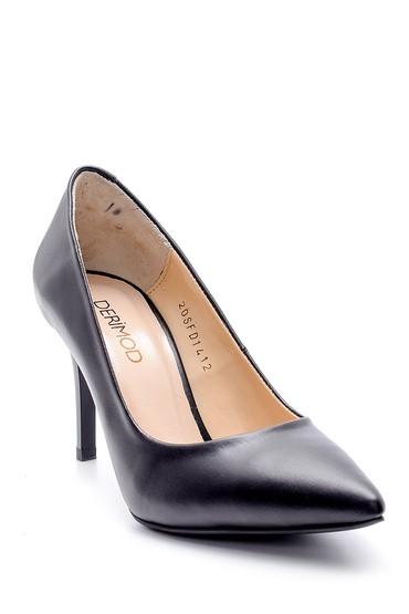 Siyah Kadın Deri Stiletto 5638163362