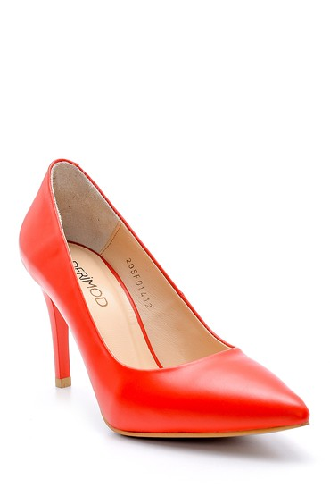 Kırmızı Kadın Deri Stiletto 5638163366