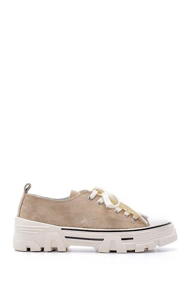 Vizon Kadın Süet Deri Sneaker 5638175167