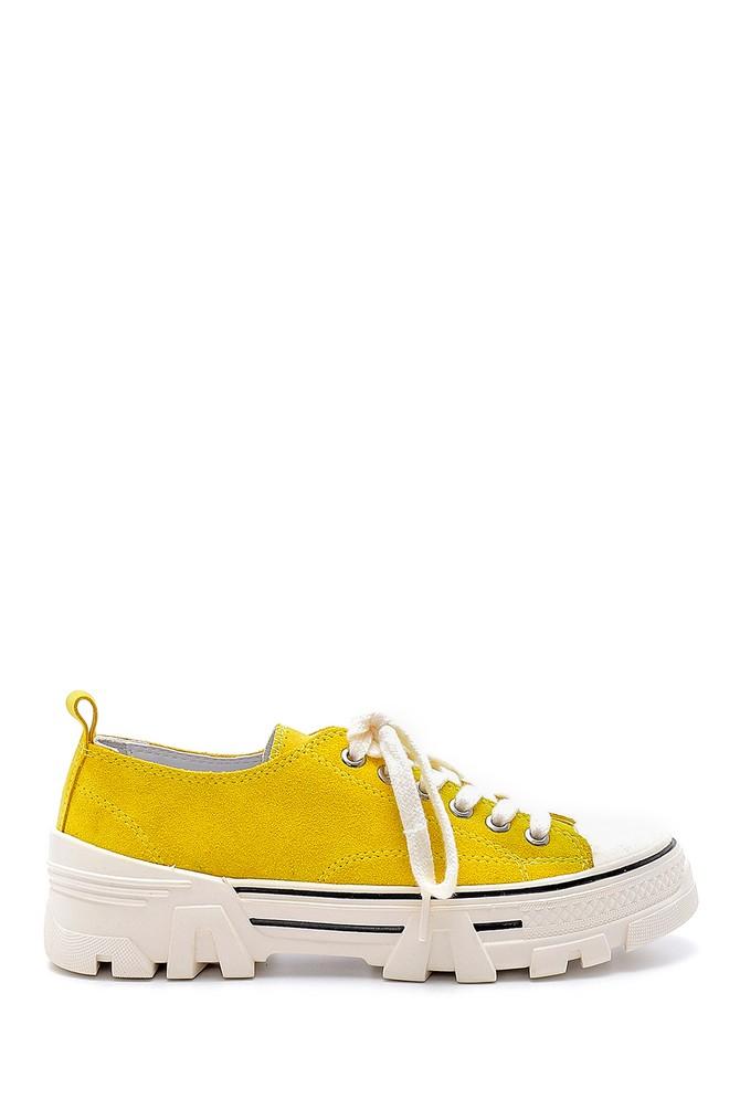 Sarı Kadın Süet Deri Sneaker 5638175169