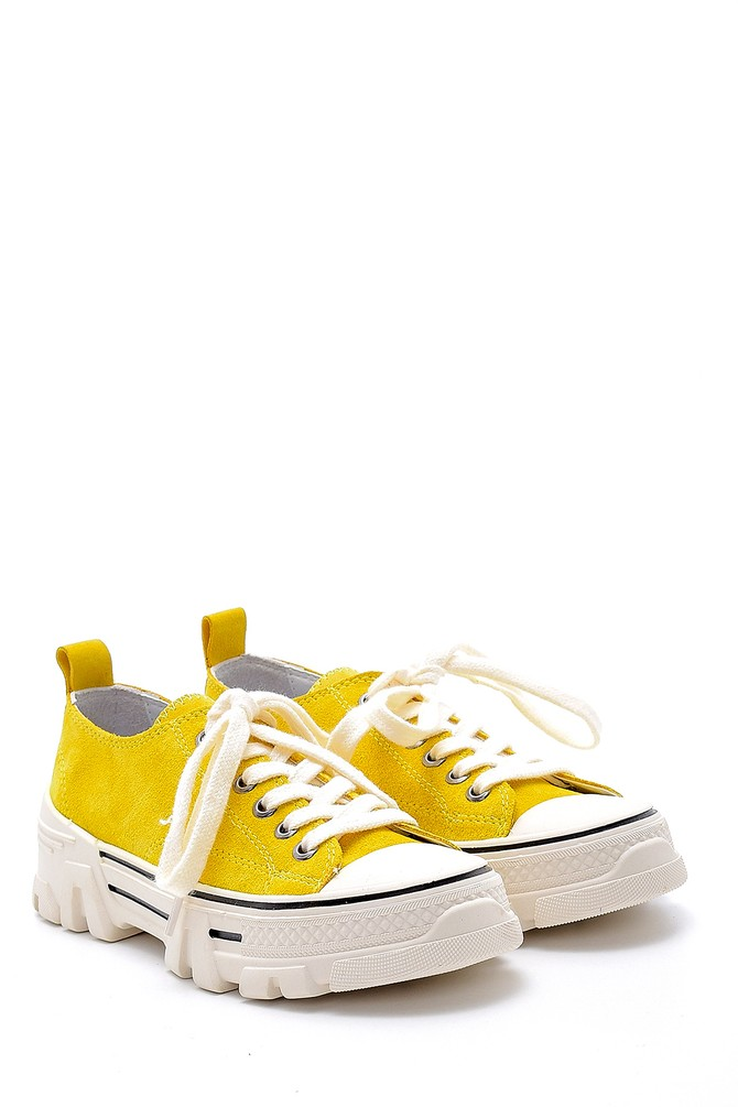 5638175175 Kadın Süet Deri Sneaker