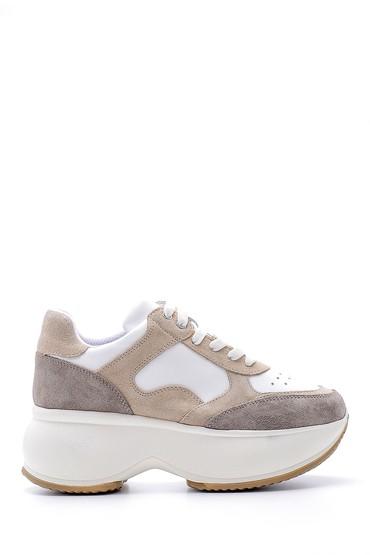 Beyaz Kadın Deri Sneaker 5638173874