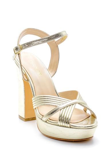 Sarı Kadın Metalik Topuklu Ayakkabı 5638175413