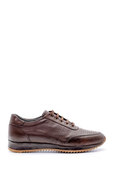 Kahverengi Erkek Deri Sneaker 5638130240