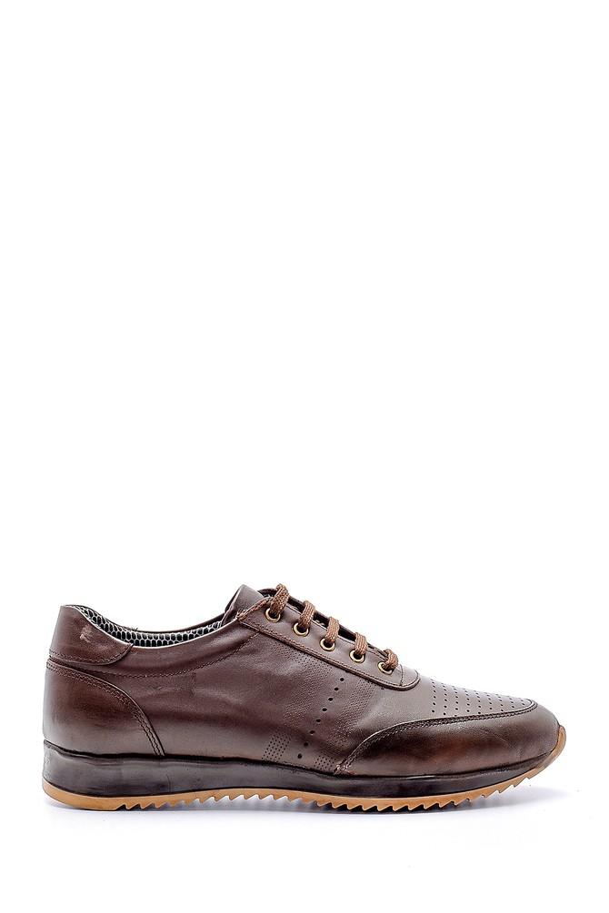 Kahverengi Erkek Deri Sneaker 5638130259