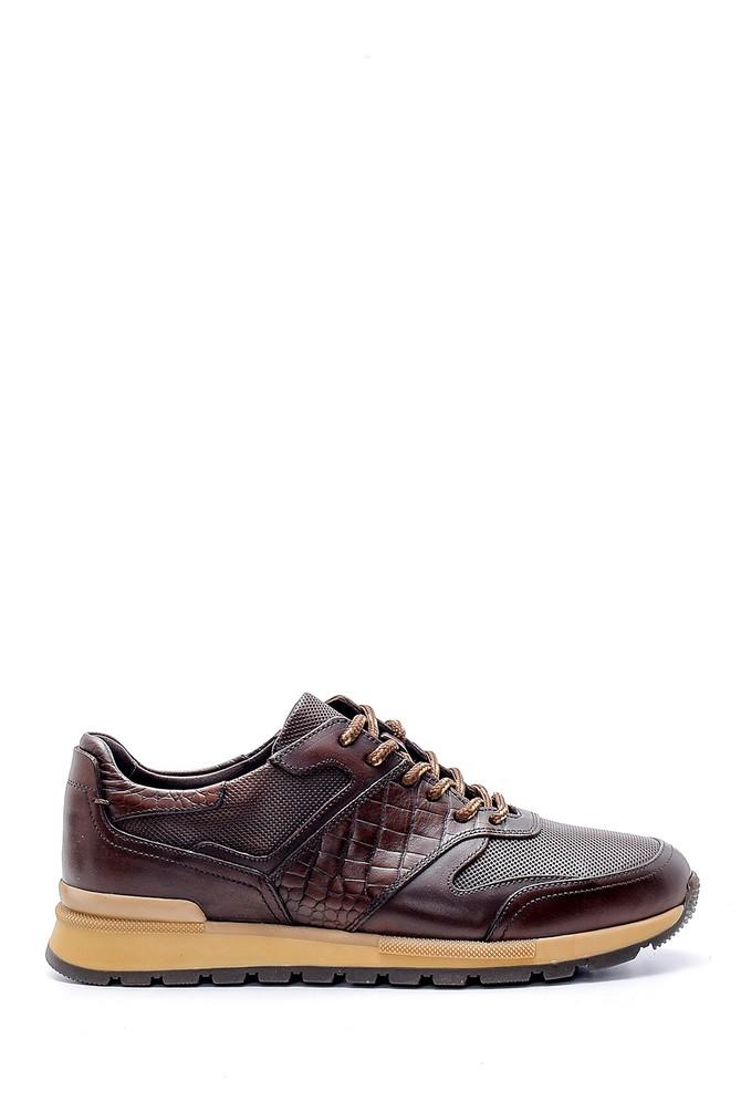 Kahverengi Erkek Deri Sneaker 5638143700