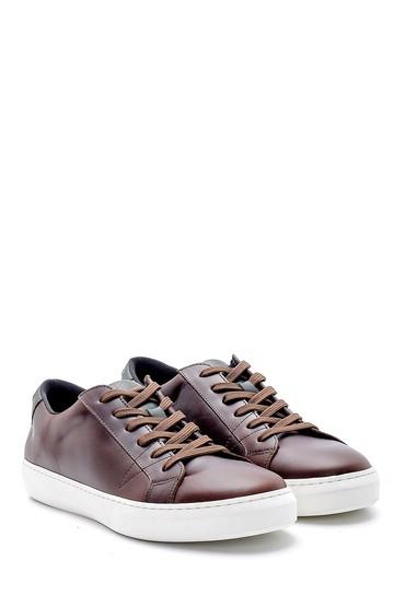 Kahverengi Erkek Deri Sneaker 5638145149