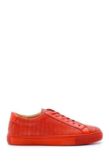 Kırmızı Erkek Deri Sneaker 5638148440