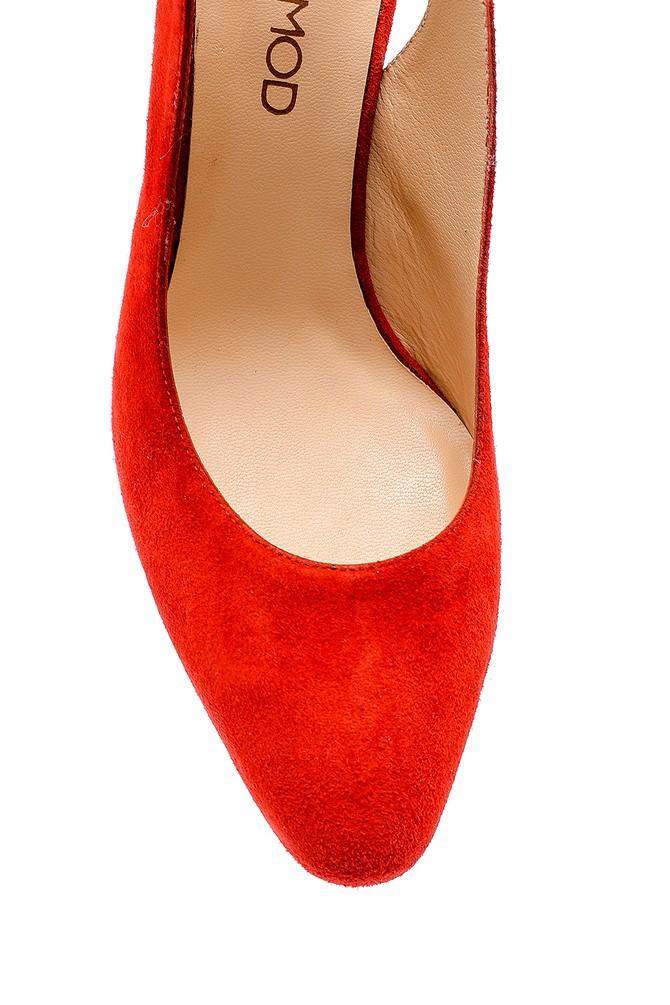 5638143978 Kadın Süet Topuklu Ayakkabı
