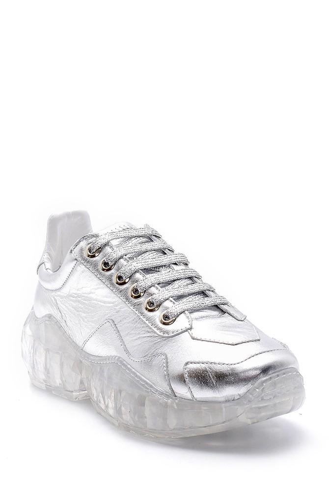 5638148276 Kadın Şeffaf Tabanlı Deri Sneaker