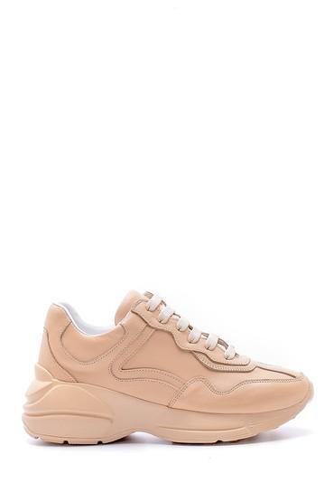 Bej Kadın Deri Sneaker 5638167638