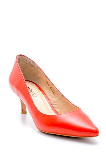 Kırmızı Kadın Deri Topuklu Ayakkabı 5638163126
