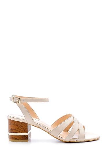 Bej Kadın Kalın Topuklu Ayakkabı 5638161942